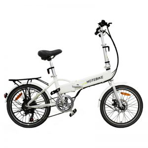 2019 white color folding frame electric bicycles for sale (A1-white)