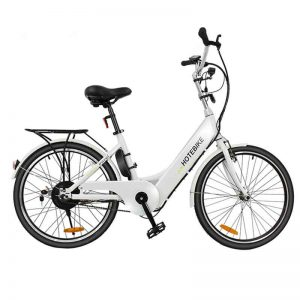 White color 24 inch cool electric bikes for sale