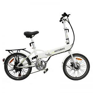 2018 white 350W folding electric bike for sale