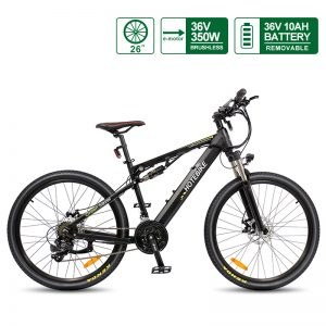 China 36V 350W full suspension mountain e-bike for sale (A6AH26-S)