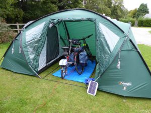 Camping Trip with Electric Bicycle
