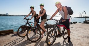 Cycling is an effective way to relieve the work pressure