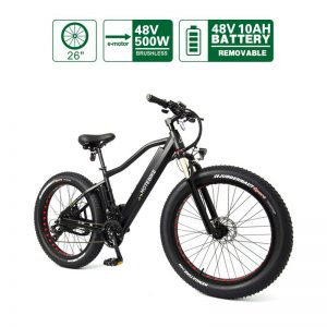 500W Fat tire electric bicycle high power mountain bike A6AH26F
