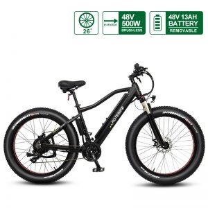48V 500W Fat tire electric bicycle high power mountain bike 26″ (A6AH26F-48V500W)