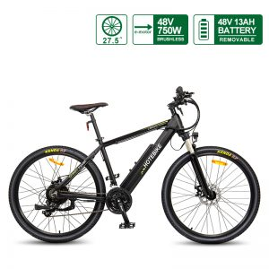48V 750W high-power 27.5*1.95 inch Best Adult Electric Mountain Bikes (A6AH26-48V750W)