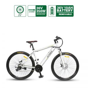 36V 350W 26 inch Assist Best Adult Electric Bicycles Hidden Battery (A6AH26 WHITE)