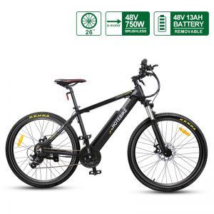 48V 750W most powerful electric bike 26 inch E bike with quick release Battery A6AH26 electric mountain bike