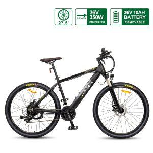 27.5 inch Electric Mountain Bikes 36V 350W Hidden Battery Powerful E bike A6AH26
