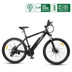 48V 500W E mountain bike 26″ electric powered bicycle with Hidden Battery A6AH26 for sale