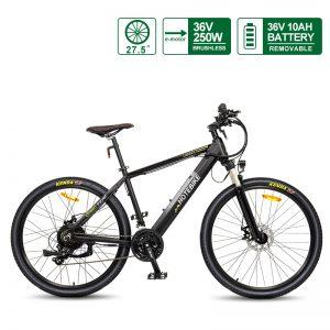 27.5 inch Electric Mountain Bikes for Sale 36V 250W Specialized Electric Mountain Bike A6AH26 36V 10AH Battery Electric Bike