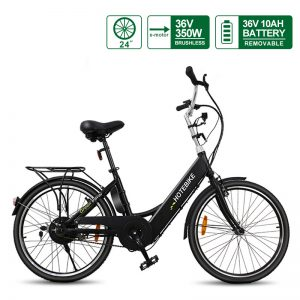 7 speed black power cycle electric city bike for sale (A5-black)