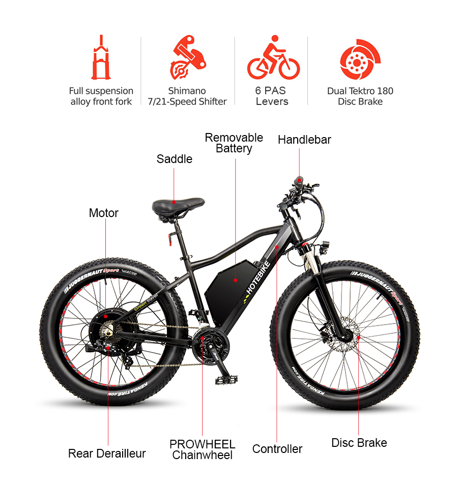 hotebike fat tire electric bike