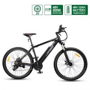 HOTEBIKE Mountain Bikes for Sale 26 inch E- Mountainbike 48V Electric Bicycle