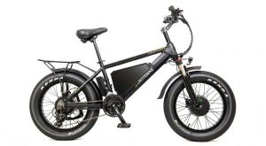 How fast does  60V750W dual motor fat tire electric bike go