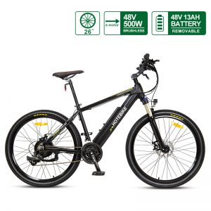 26*2.35 inch Mountain Bike Snow Electric Bike Canada 500W with Wake MTB Stem Suitable for Height 160cm-180cm