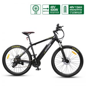 48V 500W Mountain Electric sykkel 26 ″ elektrisk drevet sykkel med Hidden Battery A6AH26 til salgs
