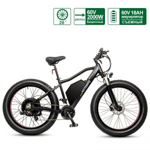 60V 2000W Fat Tire Electric Bike Max Speed ​​55km / h Snow Beach Bike 18AH بطارية
