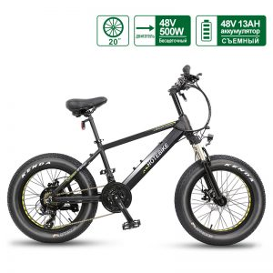 48V500W 20 Inch Electric Fat Bike Fat Tire Electric Bike A6AH20F