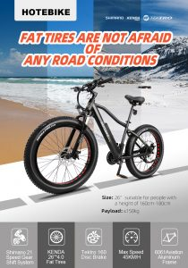HOTEBIKE 750W electric bike A6AH26F Electric Motorcycle detailed ahead of Russia launch
