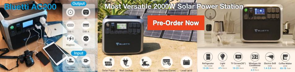 Bluetti solar 2000W Power Station