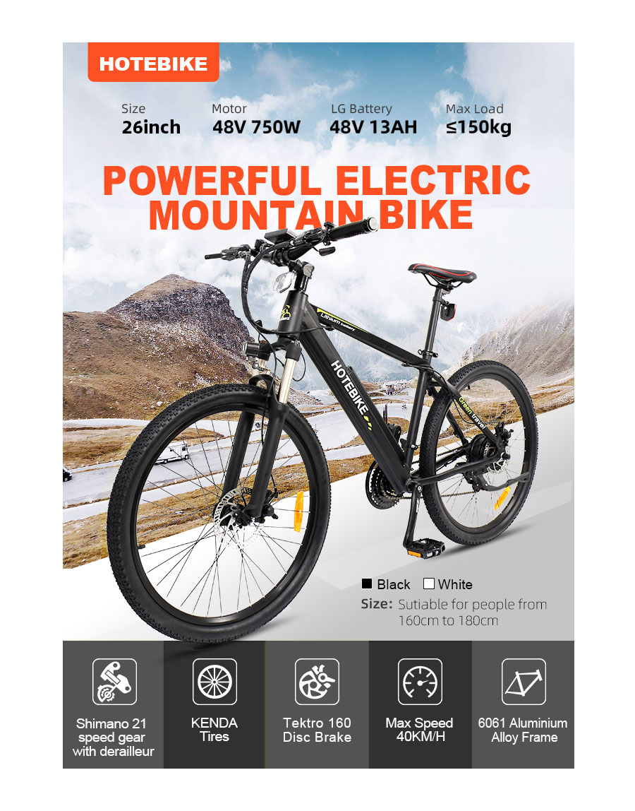 750W electric mountain bike