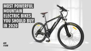500W Mountain Bike with MTB Stem Adjustable Handlebar for 160cm to 188cm People