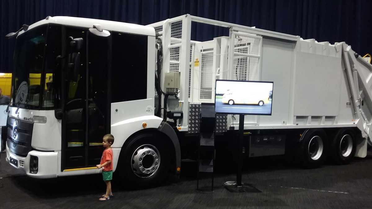 "for Xmas?"" SEA electric rubbish truck. Image: B. Gaton"