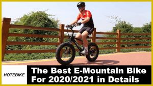 Mini Fat Tire Electric Bike 20 inch HOTEBIKE A6AH20F