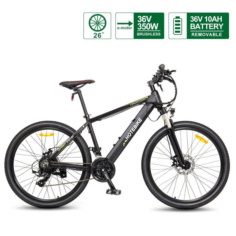 Electric Mountain Bike 36V 350W motor 26 inch ebike frame Hidden Battery A6AH26