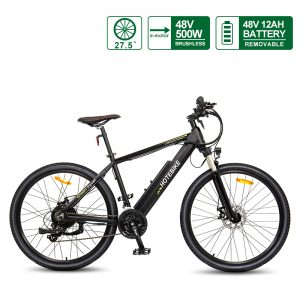 27.5 INCH Electric Bicycle 48V 500W Motorised Bicycle with 48V 12AH Removable Battery for Sale