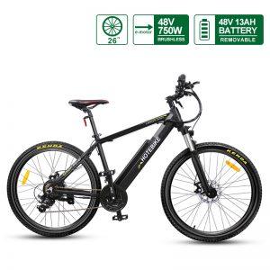 electric bike 750 watt 26 inch frame powerful hub motor 48v 13ah Battery