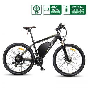 48V 20AH Battery Electric Bike 26 * 2.35 Inch E Bike A6AH26 HOTEBIKE Electric Mountain Bike
