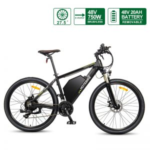 27.5 Inch Electric Mountain Bike with 48V 20AH Battery HOTEBIKE Electric Bicycle A6AH26