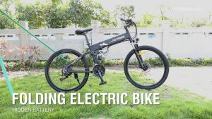 G4 Electric Mountain Bike Riding Video Full Suspension Bike