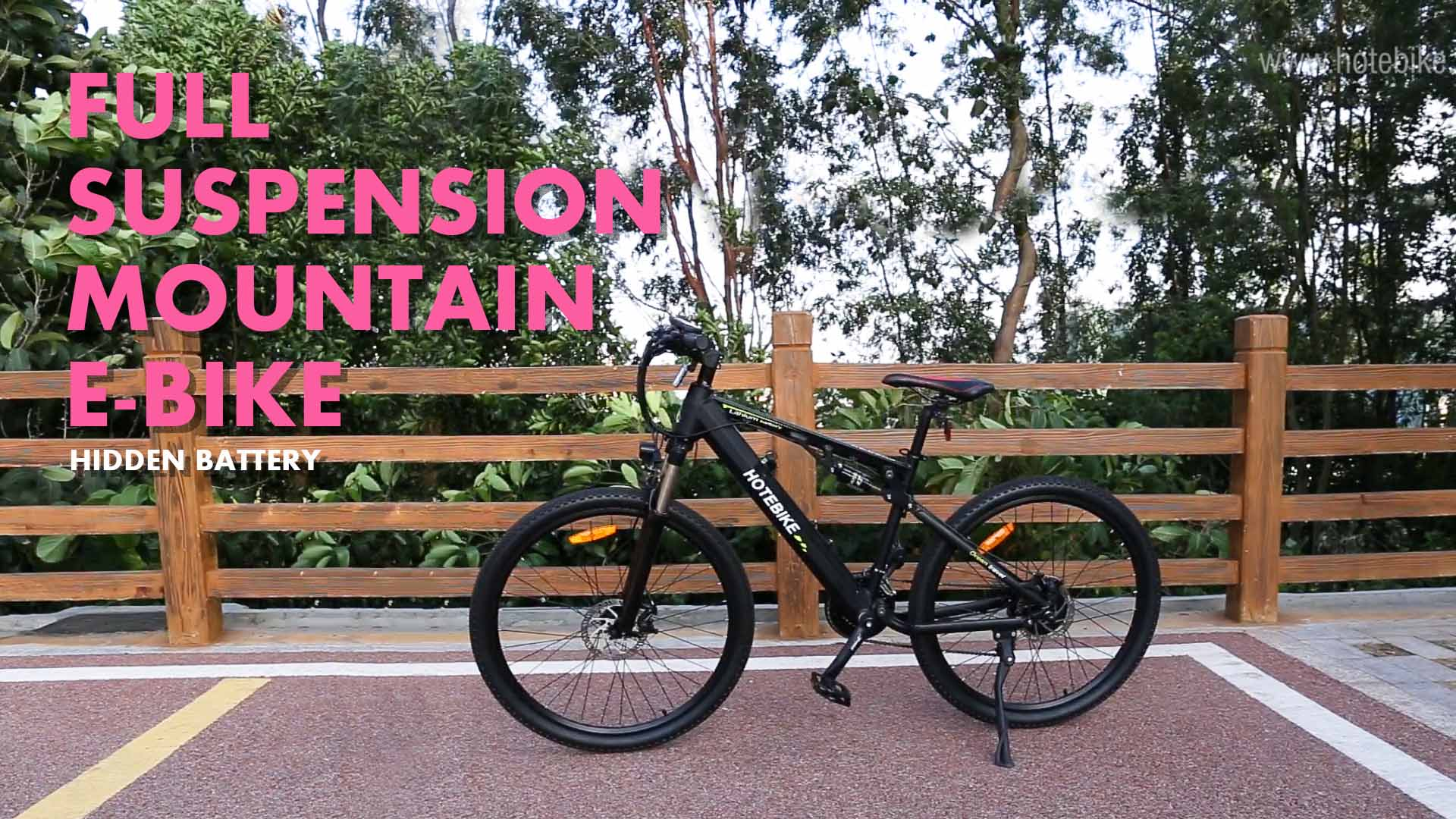 Full Suspension Electric Moutain Bike HOTEBIKE Elctric Bicycle