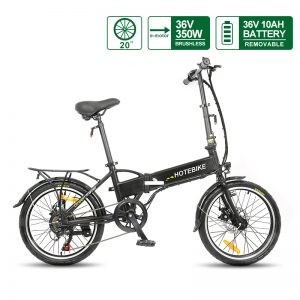 20 Inch Folding Electric Bike 36V 350W Mini Electric Bicycle