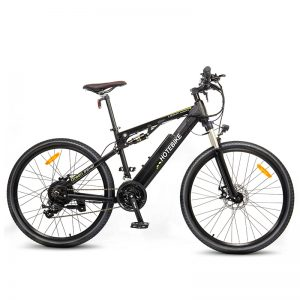 Fully Suspension Electric Bicycle 500W Mountain Bike with Quick Release Battery
