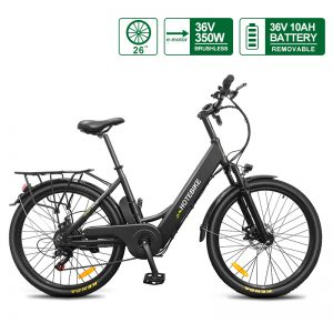 [Fast Delivery]City Bike 36V 350W Electric Bike United States for Men Women Adults A5(26)