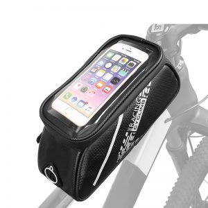 Multifunctional Bicycle Front Tube Bag Waterproof with Mobile Phone Touch Screen