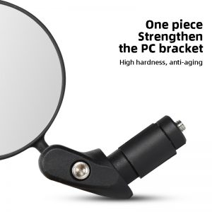 Bicycle foldable convex rear view mirror