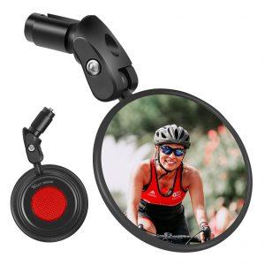 Bicycle mirror foldable convex mirror